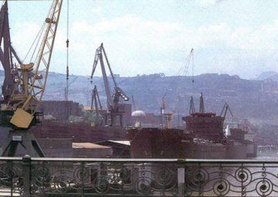Año 1982 desde el puente de Deusto