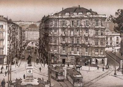 Plaza Circular y calle de la Estación