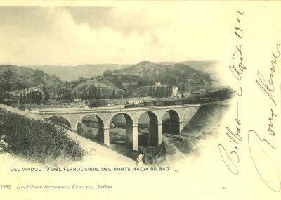 Del viaducto del ferrocarril del Norte hacia Bilbao 1912