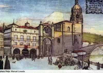 Plaza Ayuntamiento, puente viejo y San Antón